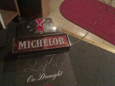 vintage michelob beer lighted clock