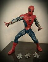 "Web Shooting Spiderman 15"" Action Figure 2012 Marvel Lights & Sounds Hasbro Rare"