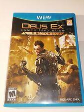 Deus Ex: Human Revolution - Director's Cut (Nintendo Wii U, 2013) Video Game