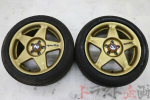 Speedline 16 x 7 + 50 5x100 Wheel Set with bridgestone Tyres (Pair)
