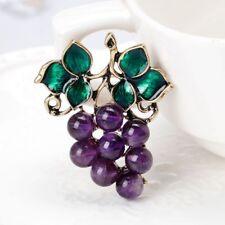 Hijab Pin Scarf Buckle Purple Rhinestone Corsage Enamel Grape Brooch Pins