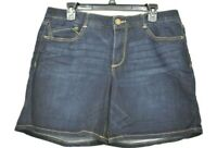 Wit & Wisdom Womens Indigo Ab-Solution Cuffed Denim Shorts Stretch Mid Rise 12