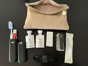 BRAND NEW & GENUINE Bvlgari Travel Makeup Bag Made For Emirates INC. CONTENTS