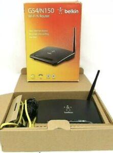 Belkin G54/N150 Wi-Fi N Router 2,4 GHz Fast Ethernet Preset Security Wireless