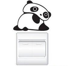 FD1248 Big Eyes Cute Panda Switch Light Funny Wall Decal Vinyl Stickers DIY *1pc