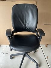 Steelcase Leap Chair V2 Fully Loaded Black Leather