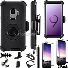 For Samsung Galaxy S9/S9 Plus Ring Stand Holder Shockproof Rugged Case Belt Clip