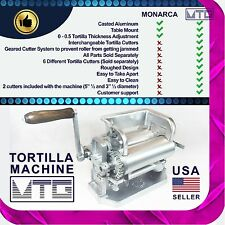 "Roller & Crank Tortilla Machine – NOT MONARCA -  5""½ and 3""½ diameter tortillas"