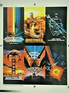 Star Trek:The Motion Pictures, 6 Card Uncut Proof Sheet (Paramount 1995)