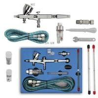 Dual Action 3 Airbrush Air Compressor Kit Craft Cake Paint Art Spray Gun Set