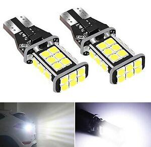 2x Ampoule T15 LED W16W Canbus 24 Leds Blanc 6000K Feux de recul arrière Freins