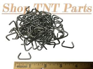 Hog Rings Large Auto Upholstery Vintage Seat Fasteners 250 pc Large Galvanized