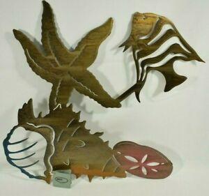 """Lazart - 3D Sea Shells - 20"""" Metal Decorative Laser Wall Art -Rustic, Nautical"""