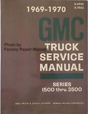 1969 1970 GMC Truck Van Suburban 1500 - 3500 Factory Shop Service Repair Manual