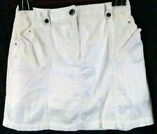 Larry Levine Petite Stretch Skort White 14P