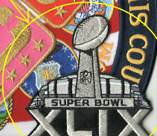 2015 SUPER BOWL SUPERBOWL XLIX-49 SILVER METALLIC JERSEY PATCH with STADIUM 3D