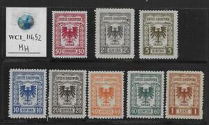 WC1_11452. ALBANIA. 1940s revenue stamps. MH