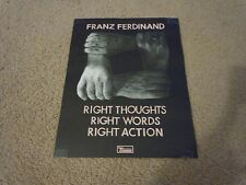 Franz Ferdinand - Poster for Right Thoughts Words Actions Cd / Lp