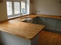 Prime Solid Beech Worktop, 40mm staves, All sizes available, Free Delivery