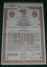 Weber County State of Utah $5000 Specimen Bond 1980