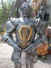 RITTER mit Schwert Dekofigur 95 cm hoch Mittelalter 2 Farben Wahl Ritterrüstung