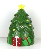 CoCo Dowley Certified Christmas Tree Cookie Jar MUSICAL International Vintage