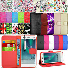 For Nokia 2  - Premium Wallet Leather Case Flip Stand Cover + Touch Mini Stylus