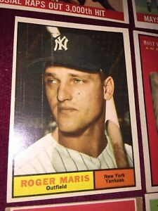 1961 Topps Card No 2 ROGER MARIS of the NEW YORK YANKEES Ex+ condition (?)