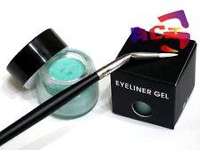 Pro Long Lasting Waterproof Turquoise Gel Eyeliner & Eye Liner Angle Brush