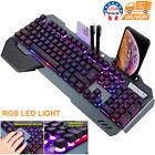 USA RGB LED Backlight Gaming Keyboard Combo Mechanical For Computer Desktop
