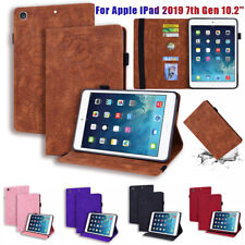For iPad10.2'' 7th Gen 2019 Mini 5 4 3 2 Real Leather+Silicone Smart Cover Case