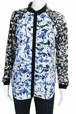 Peter Pilloto Blue floral lace sleeve  Longsleeve Shirt