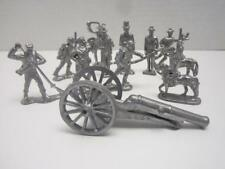 Vintage Lead Soldiers Civil War Grant, Lincoln, Robert E. Lee And Cannon 12 Pcs