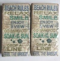 Beach Rules Guest Hand Towels Paper Napkins Beach Summer House 20 pk Set of 2