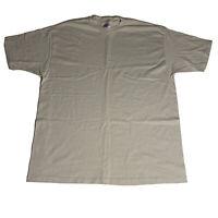 Vintage Hanes Beefy Gray Single Stitch Short Sleeve T-Shirt Mens 2XL XXL S/S