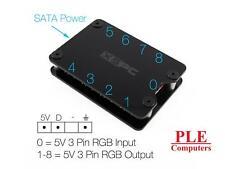 XSPC 8 Way 3-Pin Addressable RGB Splitter Hub - Black[5060175589958]
