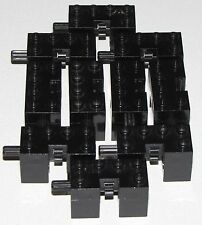 LEGO LOT OF 10 BLACK BRICKS WITH AXLE RODE GEAR BOX PIECES