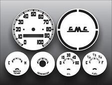 1955-1959 GMC Pickup Truck Dash Instrument Cluster White Face Gauges