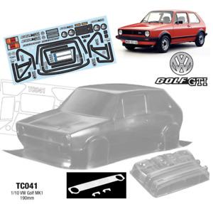 TC041 VW Golf MK1 GTI Lexan 1mm, 257mm x190mm Tamiya TT01 TT02