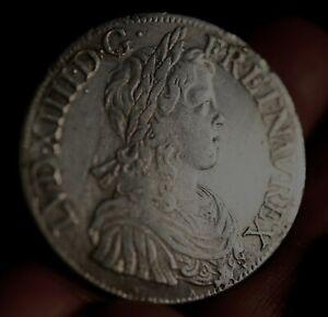 ECU LOUIS XIV MECHE LONGUE ARGENT ROYALE