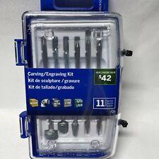 Dremel 11 Pc Carving/Engraving Kit Rotary Tool Accessory Kit Model 729 New