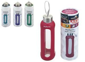 Summit Mein Bento 500ml Glas Eco Flasche Silikon Abdeckung - 1 Unt Lila Flasche