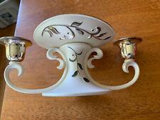 Lennox Silver Plate Opal Innocence Unity Candle Holder