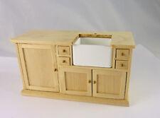 Dollhouse Miniature Unfinished Euro Kitchen Sink Unit, J1141