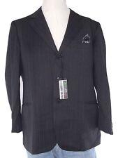 piccoli giacca blazer uomo antracite gessato lana vergine taglia it 50 l large