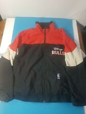 Vintage Men's Shain Chicago Bulls Lined Wind Breaker Jacket Full Zip Sz XL