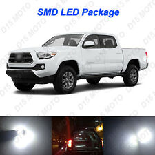 11 x Untra White LED Reverse Interior Light Kit For 2005-2016 2017 Toyota Tacoma