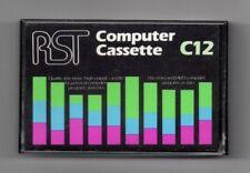 1 x RST Computer Cassette in Bianco C12-NUOVO SINCLAIR ZX Acorn BBC COMMODORE