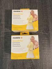 (LOT OF 4) Medela PersonalFit Flex Connectors 4 PACK BPA Free, New & SEALED!