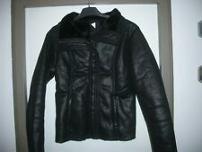 Biker - Jacke  Leder-Optik   38  Schwarz  warm gefüttert  cool   Nagelneu